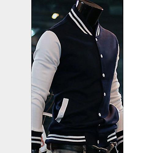 U & F Мужчины Мужская синий Великобритания Толстая Встроенная куртка Lightinthebox 987.000
