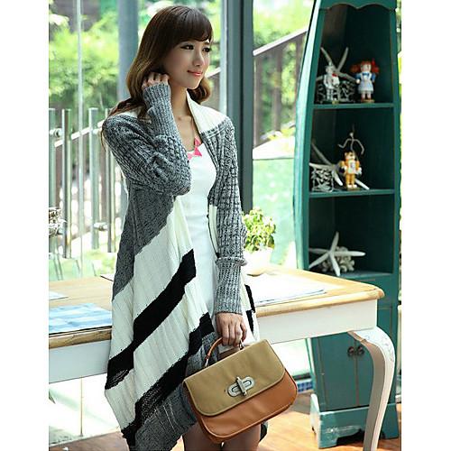 Женская Stripes Асимметричный Толстая Кардиган Lightinthebox 1256.000