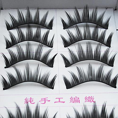 10 пар Европейский волокна ресниц Черные Накладные ресницы Lightinthebox 128.000