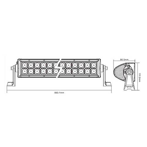 LED Off Road свет бар LED6-180W Lightinthebox 5972.000