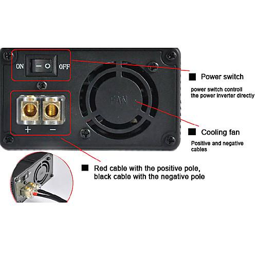 Инвертор с USB-гнездо прикуривателя 500W DC 12V в переменное 220V Модифицированная синусоида Lightinthebox 987.000