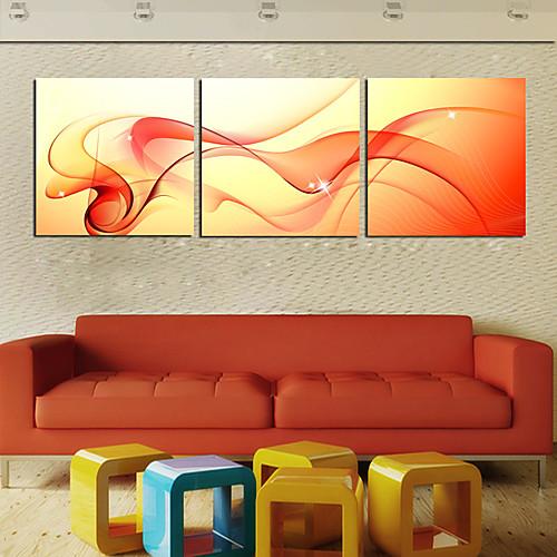 Натяжные Печать холст абстрактного искусства Танцы Шелкового набор из 3 Lightinthebox 2577.000