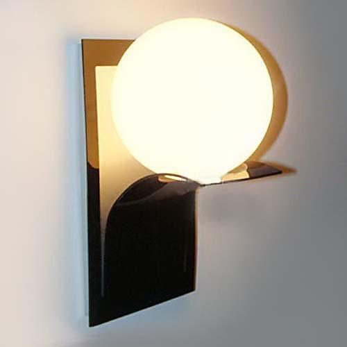 Ванная комната Настенные светильники, 1 Легкий, современный Глобус Металл Стекло гальванических Lightinthebox 2577.000