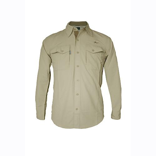 мужская с длинным рукавом открытом воздухе рубашка Tactel быстро сухой ультрафиолетового устойчивы дышащая Lightinthebox 1288.000