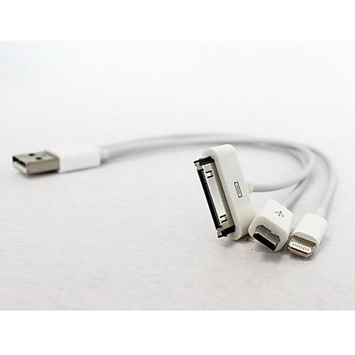 Зарядное устройство 3 в 1: USB кабель с 8-контактным разъемом, док-станция и Micro USB кабель для iPhone 4/5, смартфонов Android и Samsung P1000 Lightinthebox 79.000