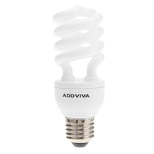 ADDVIVA  E27 15W 950LM 6500K Дневной свет ESL / CFL 3.5T Половина Спираль накаливания (220-240V) Lightinthebox 300.000