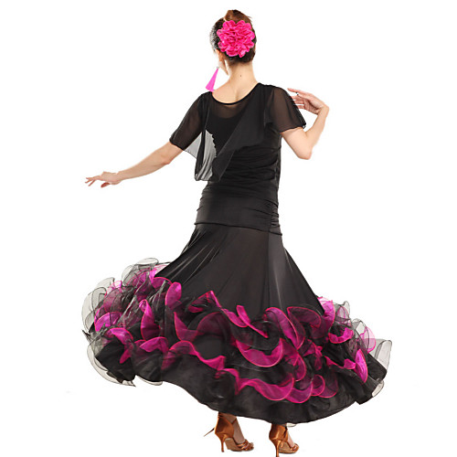 Юбка для латинских танцев из вискозы и тюля (разные цвета)