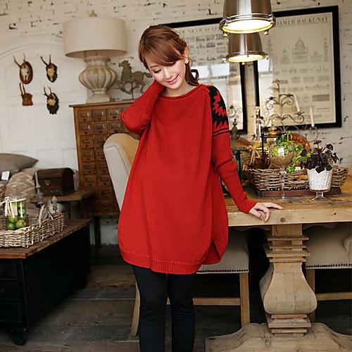 Материнство мода Свободные Длинный свитер Lightinthebox 1005.000