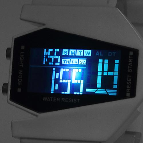 Наручные LED часы с силиконовым ремешком (белые) Lightinthebox 300.000