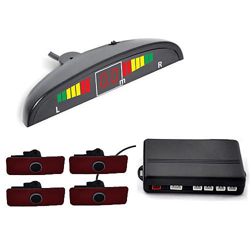 Датчик 4 Съемная И Э Дизайн Радар система парковки-LED дисплей и звуковой сигнал тревоги (белый, черный, серебристый) Lightinthebox 1546.000