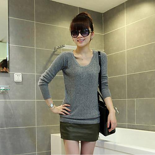Женская мода Все Fit вязание свитера Lightinthebox 697.000