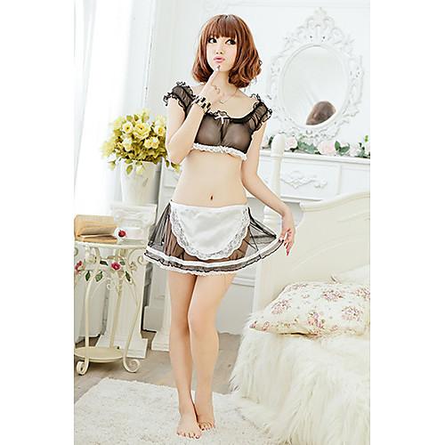 Женская сексуальный черный пижамы дева равномерной Ночное Lightinthebox 362.000