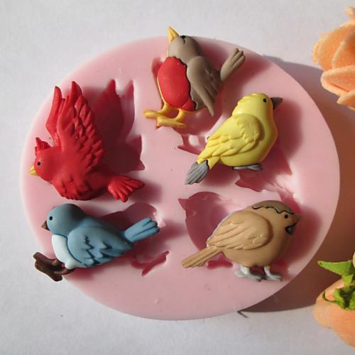 Пять Птицы силикона Шоколад / Фондант / Сахар Плесень Lightinthebox 214.000
