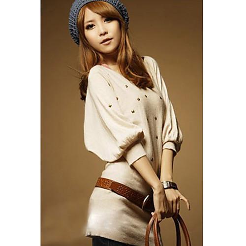 Женская осенью и зимой Южная Корея версии Нью-Бат рукав свитера (с поясом) Lightinthebox 949.000
