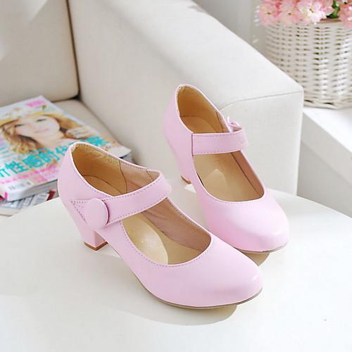 Туфли-лодочки в стиле Мэри Джейн на низком каблуке (цвета в ассортименте) Lightinthebox 1288.000