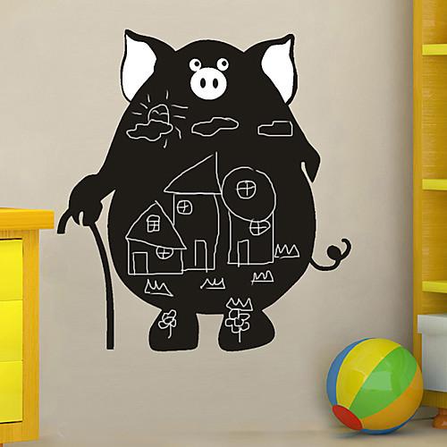 Доска стикер стены, съемный, Джентльмен Свиной Lightinthebox 644.000
