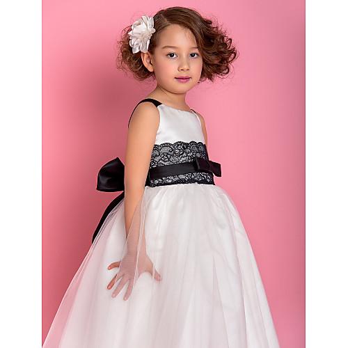 -линия принцесса ремни пят тюль и атласная Цветочница платье (733940) Lightinthebox 4296.000
