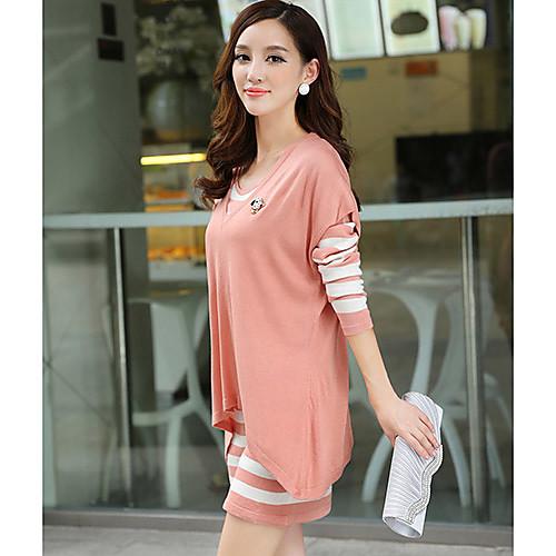 Женская Стильный элегантный Контракт Цвет свитер