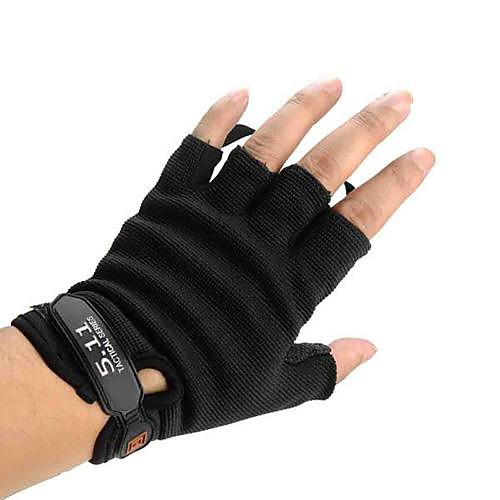 Велоспорт черный простой Half-Finger скалолазание спортивных перчатки Lightinthebox 282.000