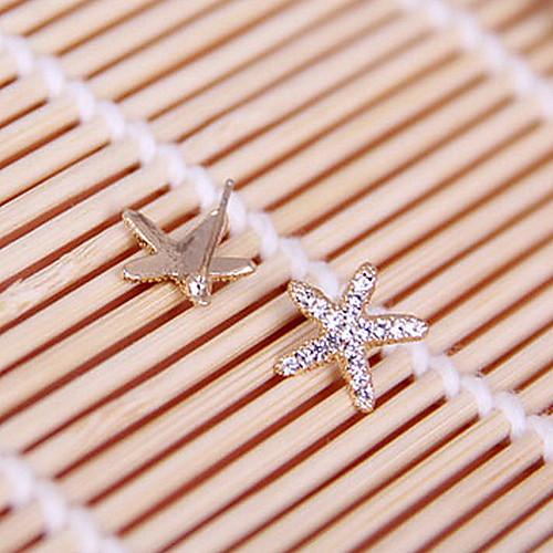 Нежный новых сладкий прекрасный океан морские звезды блестящие серьги с бриллиантами E797 Lightinthebox 128.000