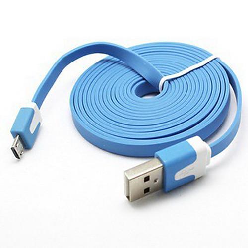 2м внешний дизайн лапши Micro USB кабель для Samsung Galaxy Note 4 / S4 / S3 / s2 и LG / HTC / Sony / ZTE Lightinthebox 102.000