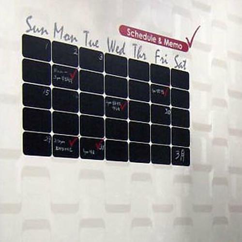 Доска стикер стены, съемный, черный кубов Календарь Lightinthebox 858.000