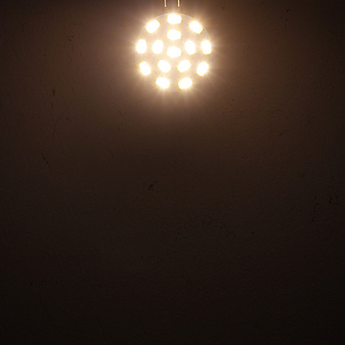 G4 4.5W 15x5730SMD 310-320LM 2800-3000K теплый белый свет Светодиодные пятно лампы (12-24V) Lightinthebox 257.000