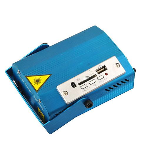 Многофункциональный зеленый / красный алюминиевый сплав Shell Лазерная этап лампа с MP3-плеер и функция дистанционного Lightinthebox 3866.000