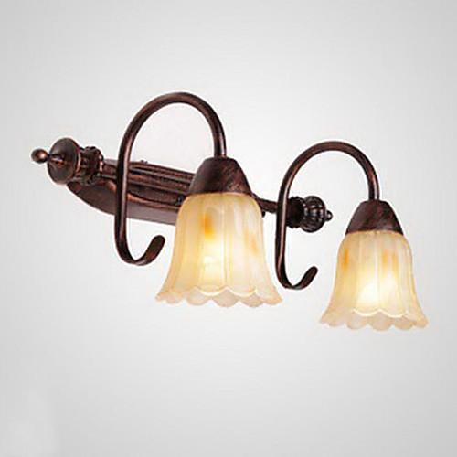 Ванная комната Настенный светильник, 2 Легкий, Винтаж Металл Живопись Lightinthebox 4296.000