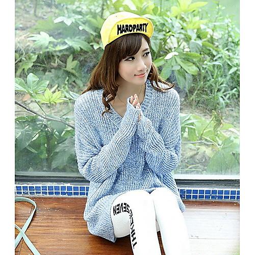 Женская V шеи Кабо рукава Длинный свитер Lightinthebox 1256.000