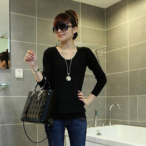 Женская мода Все Fit вязание свитера