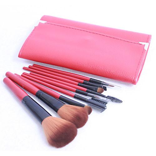 Pro 9 ПК Нейлон волос кисти для макияжа Набор красный мешочек Lightinthebox 472.000