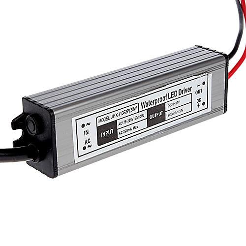 30W 900mA водонепроницаемый Светодиодный драйвер Источник питания (AC 85-265V / DC 27-37V) Lightinthebox 816.000