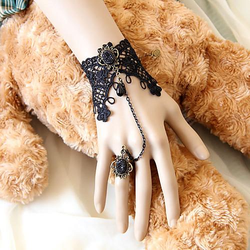 Темная Королева ручной Черное кружево Готическая Лолита браслет с Deulxe кольца Lightinthebox 343.000