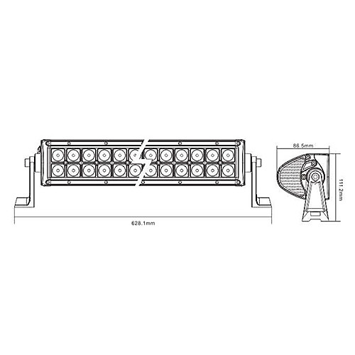 LED Off Road свет бар LED6-120W Lightinthebox 4511.000