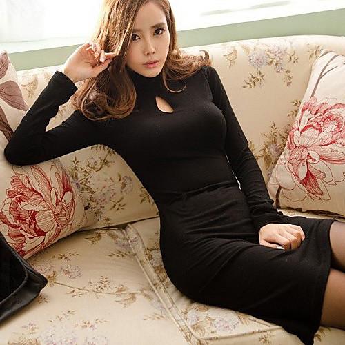 Женское, стильное платье с длинным рукавом <br>