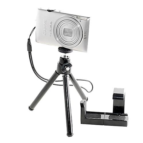 Мини Черный Регулируемая Выдвижной держатель стенд Штатив для камеры / мобильного телефона Lightinthebox 257.000