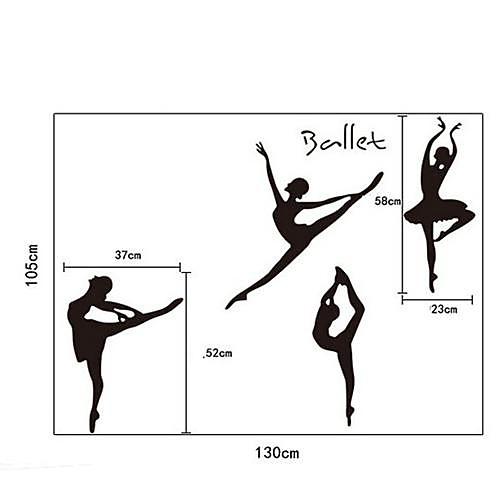 Довольно DIY клей Съемный Наклейки на стены балета Девушки Lightinthebox 429.000