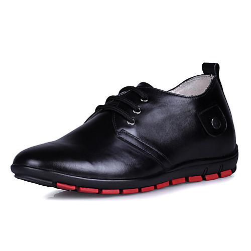 кожа мужчин низкий каблук комфорт оксфорды обувь лифт Lightinthebox 3007.000