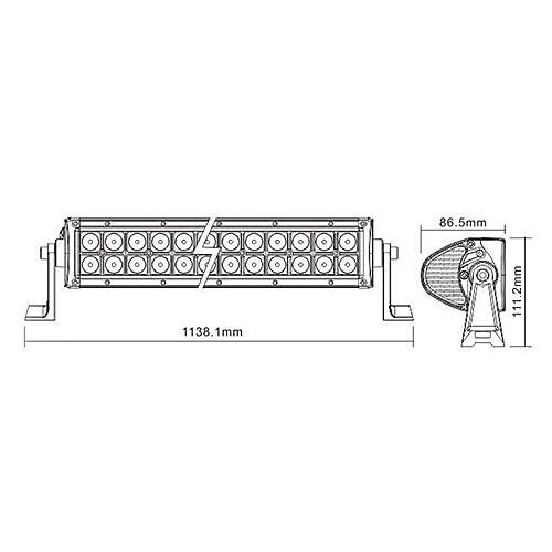 LED Off Road свет бар LED6-240W Lightinthebox 7992.000