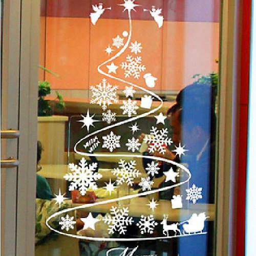 Классический Абстрактные Рождественская елка оконные наклейки Lightinthebox 773.000