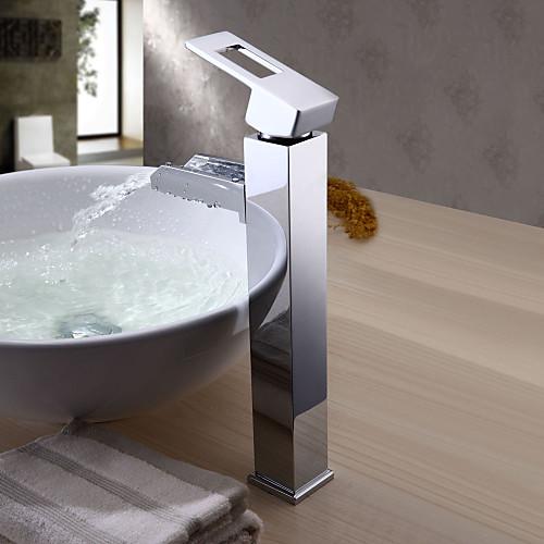 Высокий однозахватный латунный смеситель-водопад в современном стиле Lightinthebox 5156.000