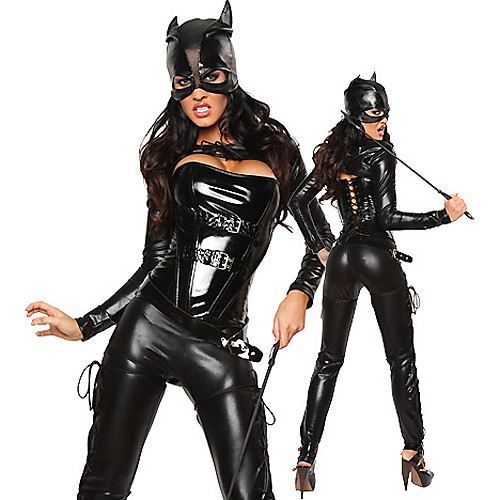 Сексуальная Женщина-кошка черный искусственная кожа Костюм женский Lightinthebox 1460.000