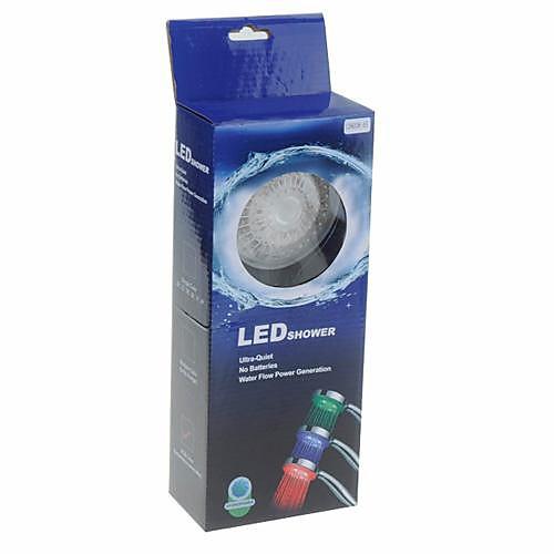 3 цвета Обтекаемая регулятором температуры светодиодные Топ-спрей насадка для душа Lightinthebox 1718.000