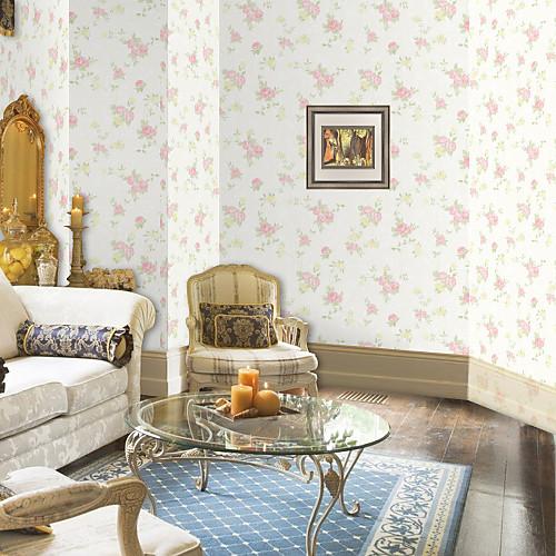 Страна Цветочные Rambler Роуз Нетканые Обоев Lightinthebox 2577.000
