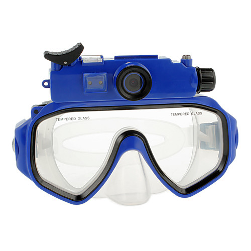 5,0 Мп HD 720P Micro SD Водонепроницаемый Дайвинг Цифровые камеры Маска Очки с 5.0MP CMOS сенсор ЖК-экран-Blue Lightinthebox 4511.000