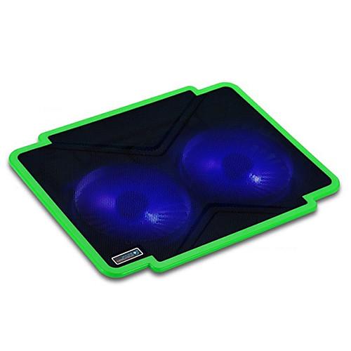 Тонкий лед 1 Pro: Coolcold металлических сеток двойного бесшумных вентилятора Кулер для ноутбука площадку Lightinthebox 386.000