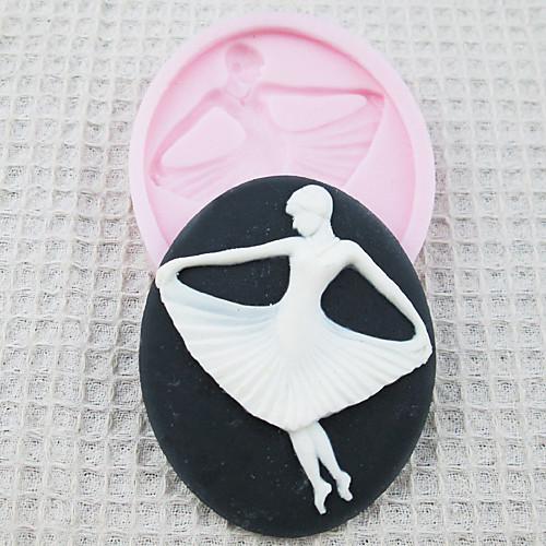 3D девушки балета Силиконовые Mold Фондант Пресс-формы Сахар Ремесло Инструменты Шоколад Плесень на торты Lightinthebox 278.000