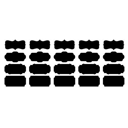 Доска стикер стены, съемные, различных форм Черного Memo Lightinthebox 558.000