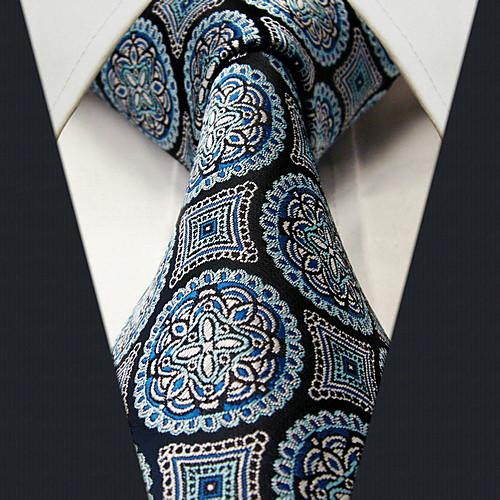 бизнес синий цветочный принт галстук